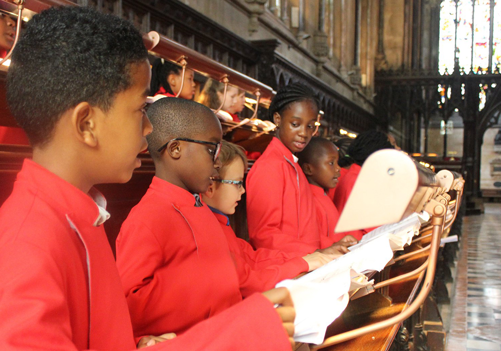 A children's choir from St John the Divine, Kennington