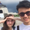 Alex with a classmate in Taiwan