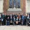 Students from The Elmgreen School at St John's College, Cambridge