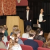 Sixth formers attend a talk given by Dr Chris Warnes, Dr Ruth Abbot and Dr Oriet
