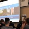 Megan Goldman-Roberts, Access Officer at St John's, talks to school students