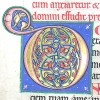 Illuminated initial D at the opening of Psalm 101