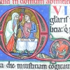 Historiated initial Q at the opening of Psalm 51