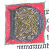 Interlace initial D at the opening of Psalm 52