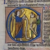 initial C incorporating the Annunciation to the Shepherds