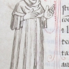 marginal drawing of a man in doctor's robes