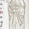 marginal drawing of Miriam
