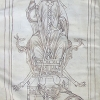St John as a bishop on a throne