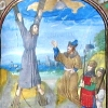 miniature depicting the martyrdom of St Andrew