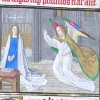 miniature depicting the Annunciation