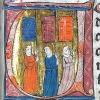 initial U showing three men with flags