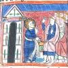 miniature showing Jesus washing Peter's feet