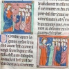 miniatures showing Christ addressing the apostles