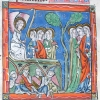 miniature showing an angel addressing the three Maries
