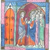 miniature showing Thomas and the other apostles