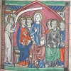 miniature showing the Virgin and the apostles