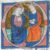 initial O showing the coronation of the Virgin