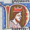 initial N incorporating the bust of a king