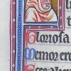 initial F incorporating the bust of a hooded man