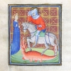 miniature depicting St George, the dragon and a maiden