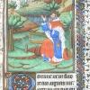 miniature depicting King David kneeling before God