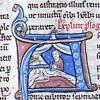 initial A incorporating Judith beheading Holofernes