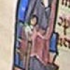 initial I incorporating Esther touching the King's sceptre