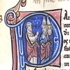 initial P incorporating St Paul and two Jews