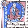 initial P incorporating St Paul blessing