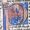 initial P incorporating St Paul with a sword