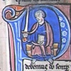 initial P incorporating St Paul with a sword and a book
