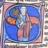 initial S incorporating St Peter holding two keys