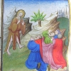miniature for Advent showing John the Baptist preaching