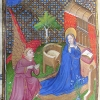 miniature showing the Annunciation