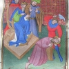 miniature showing the martyrdom of St James the Great