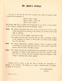 Rationing notice from 1917
