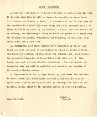 Bread Ration Notice (18 July 1946)