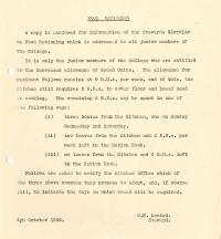 Junior Members' increased bread ration (4 Oct 1946)