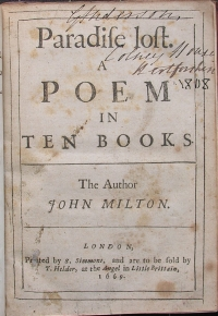 Paradise Lost first edition title page