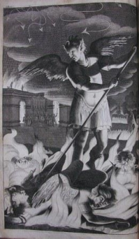 Plate from first illustrated edition of Paradise Lost