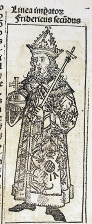 Frederick II (on another page, the same woodcut is used for Sigismundus)