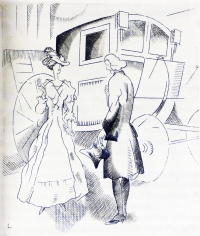 1928 lady and carriage