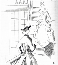 1928 lady on stairs