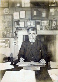 Samuel Butler in his room, about 1890