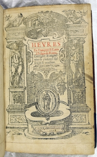 Title page of the book of hours.