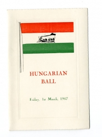 St. John's Hungarian Ball front cover