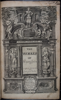 Title page of the 1640 edition of Jonson's works