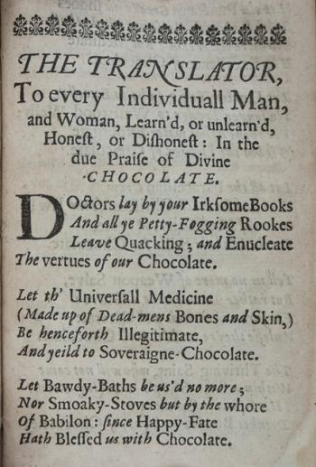 In due praise of divine chocolate...