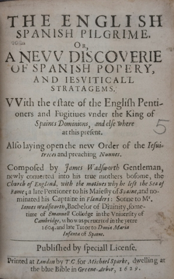 The English Spanish pilgrime...