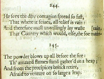 Extract from Dryden's poem 'He sees the dire contagion spread so fast...'